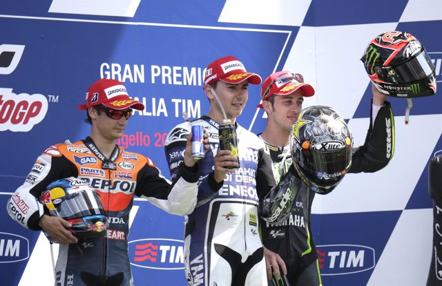 Dani Pedrosa, Jorge Lorenzo y  Andrea Dovizioso GP Italia