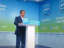 Juan Ignacio Zoido, hoy en rueda de prensa