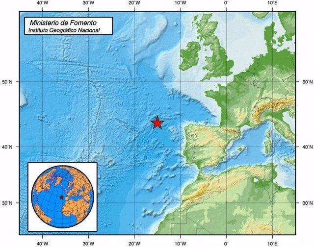 Mapa del movimiento sísmico