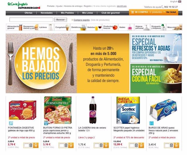 ee7ca076643b Economía/Empresas.- El Corte Inglés relanza su supermercado virtual ...