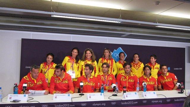 El equipo olímpico de tenis en los Juegos de Londres