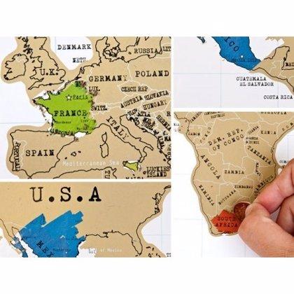 Un Mapa Mundi Personalizado Permite Rascar Los Paises Visitados