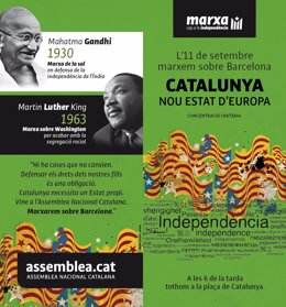 Cartel de la marcha independentista de la Diada de 2012