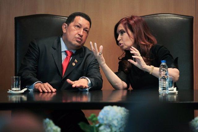 Hugo Chávez y Cristina Fernández de Kirchner