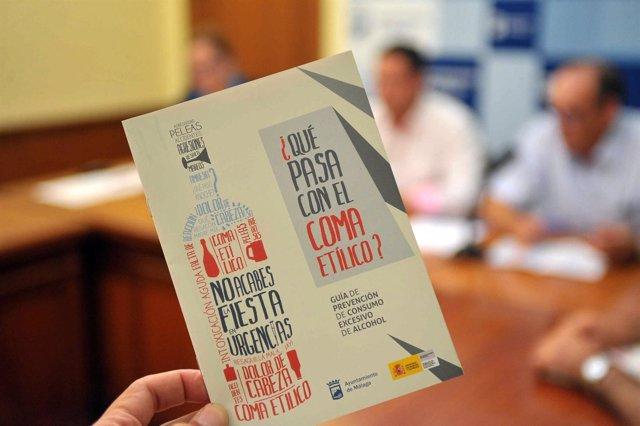 Presentación en Málaga  de una guía para prevenir el coma etilico