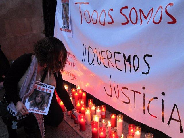 Concentración De Repulsa Contra La Sentencia Del Caso Marta Del Castillo