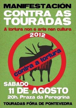 Manifestación contra los toros de Pontevedra