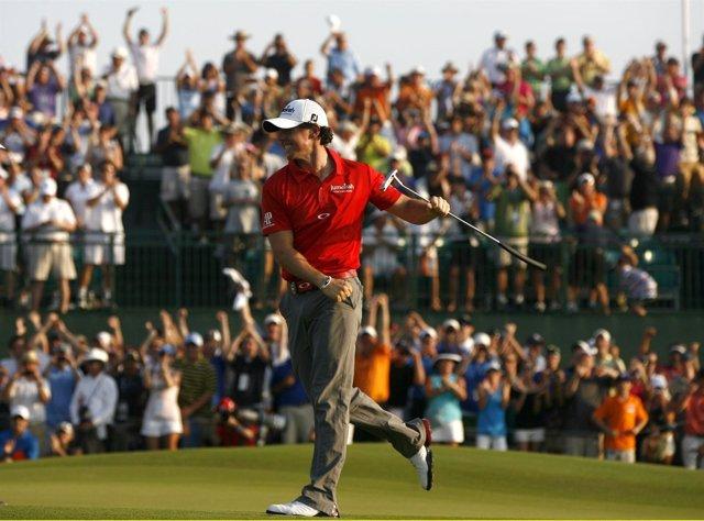 Rory McIlroy tras ganar el Campeonato PGA