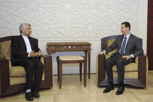 Bashar al Assad reaparece junto a Said Jalili