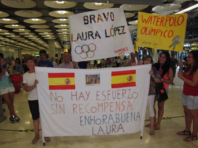 Recibimiento olímpicos españoles