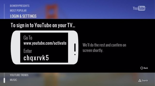 Aplicación de YouTube para PlayStation 3