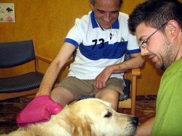 Terapia asistida con perros en López Barneo 2