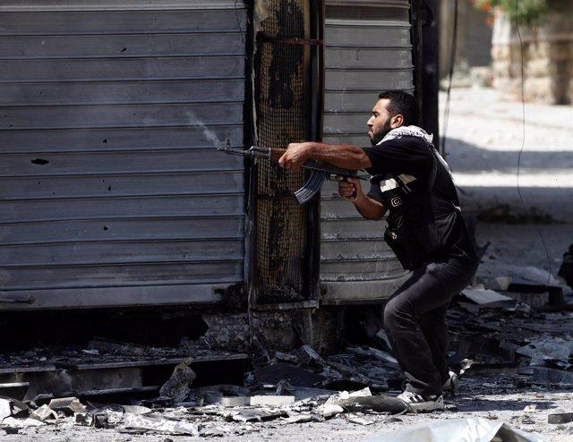 Rebeldes sirios en Damasco