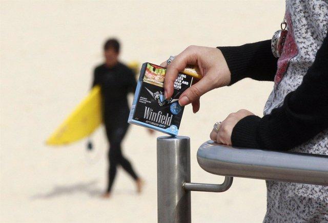 Cajetilla de tabaco en Australia