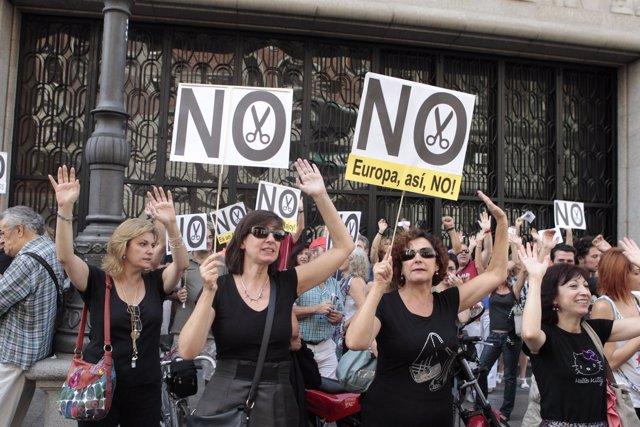 Manifestación por los recortes del Gobierno