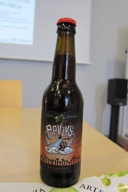 Cerveza artesana de la marca Populus