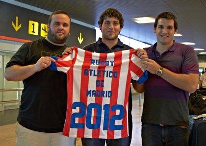Rugby.- Los jugadores argentinos Gardonio, Roher y Braim llegan a Madrid para empezar con el Atlético de Madrid