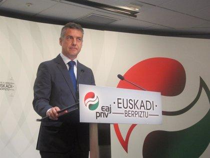 """Urkullu cree que una parte del PP sigue """"anclada en el pasado"""" en materia de terrorismo"""
