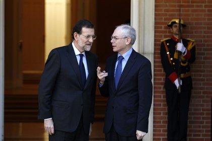 Economía/Macro.- Rajoy retomará la semana próxima su agenda internacional recibiendo a Van Rompuy y Hollande