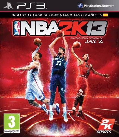 Marc Gasol, portada en la versión de NBA 2K13 junto a Derrick Rose y Blake Griffin