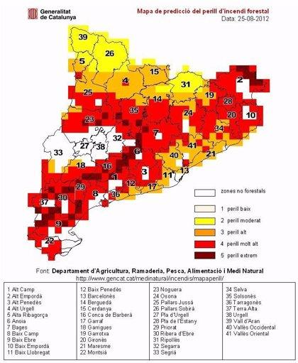 El riesgo de incendio aumentará en el litoral de Tarragona y el Alt Empordà