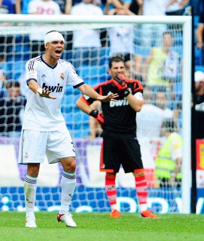 Pepe regresa en la vuelta al trabajo del Real Madrid