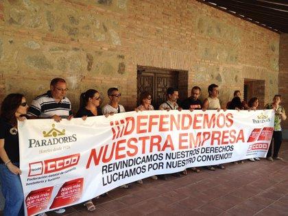 Concluye el encierro de los trabajadores de Paradores en Toledo