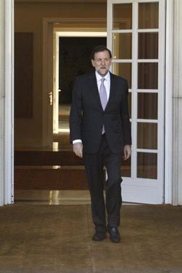 El presidente del Gobierno, Mariano Rajoy, en Moncloa