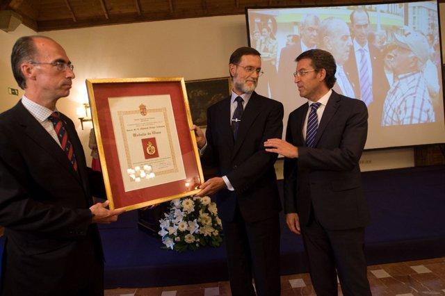 El presidente de la Xunta, Alberto Núñez Feijóo, en un homenaje a Fraga