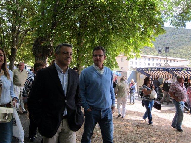 Diputado general Alava javier de andrés con presidente PP vasco antonio basagoit