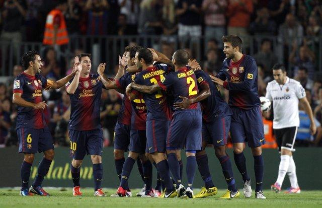 Un Barcelona suficiente se impone a un Valencia poco ambicioso