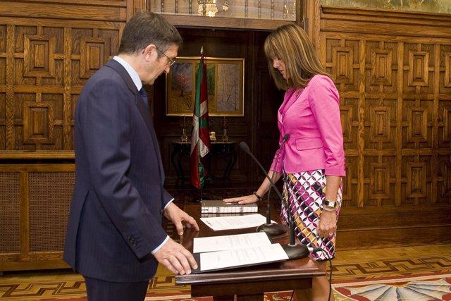 Idoia mendia toma posesión como consejera de interior del gobierno vasco