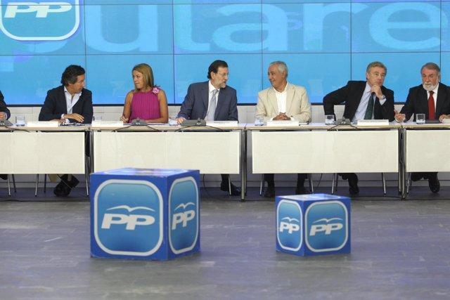 Rajoy, Cospedal y Arenas en el Comité Ejecutivo Nacional del PP