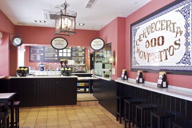 Imagen del nuevo restaurante de 100 montaditos en Factory