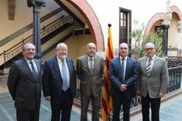 El conseller de Salud, Boi Ruiz, con los presidentes de las cuatro diputaciones