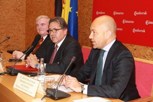 Jaime García Legaz, y los presidentes de las cámaras de España y Alemania
