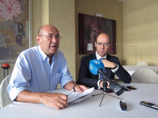 Francisco Ferraro Y David Cano, En Rueda De Prensa.
