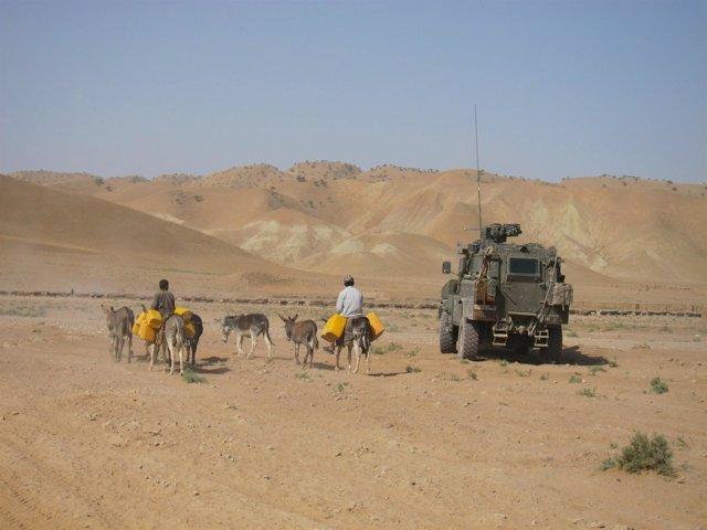 Un RG31 Español En Afganistán