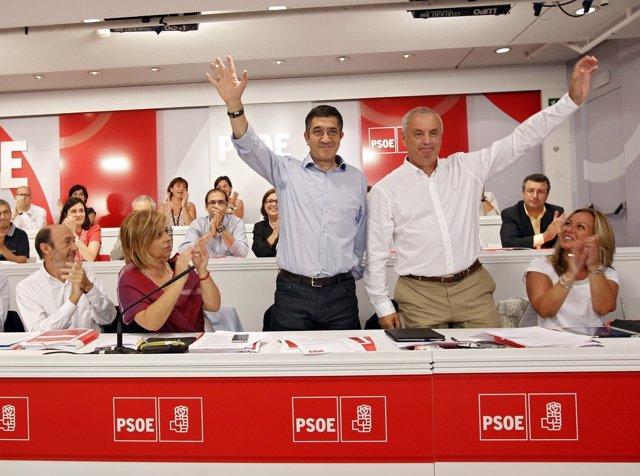 Patxi López y Pachi Vázquez en Madrid