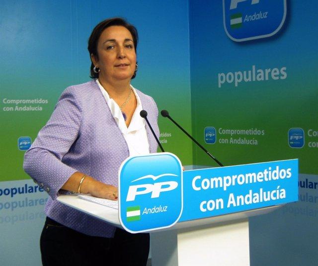 Ana María Corredera,  en rueda de prensa