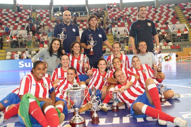 Atlético de Madrid Navalcarnero campeón Supercopa fútbol sala femenino