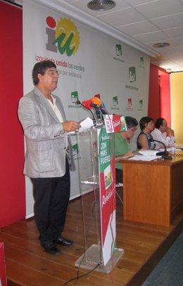 Reunión de cargos públicos de IU Andalucía con Valderas y Cortés