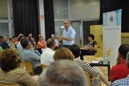 Francisco Jorquera presenta las líneas del programa del BNG en Vigo