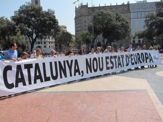 Miembros de la Assemblea Nacional Catalana (ANC)