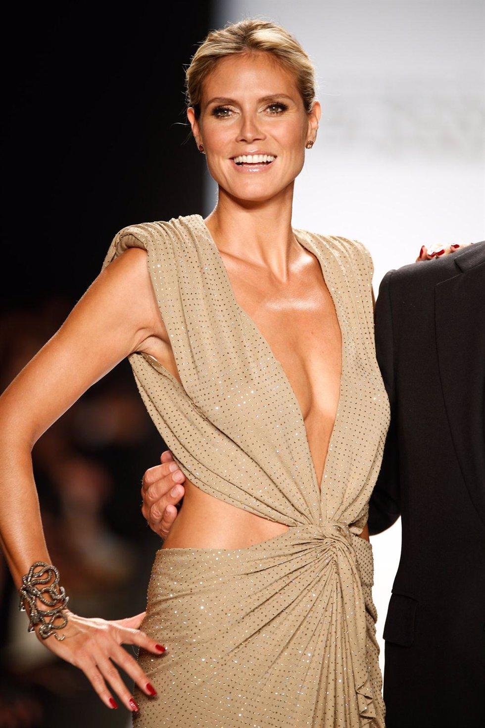 Posado de Heidi Klum en la Semana de la Moda de Nueva York