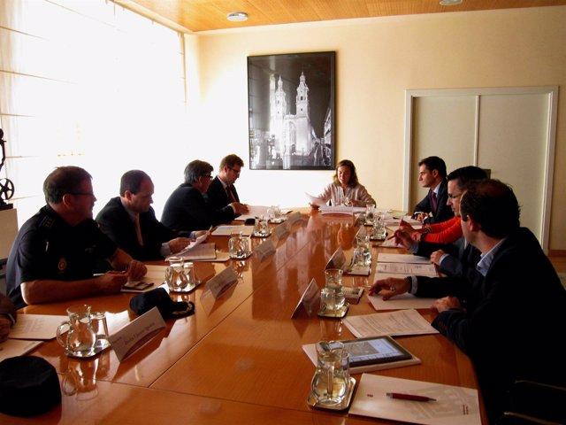 Imagen de la reunión de la Junta Local de Seguridad