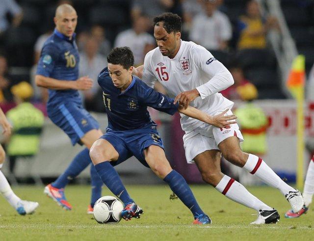 Nasri Y Lescott En El Francia - Inglaterra De La Eurocopa