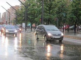 Activada la alerta amarilla por lluvias fuertes y tormentas en Aragón