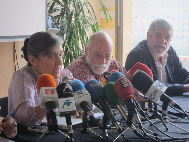 Àngels Folch (ANC), Arcadi Oliveres (Justícia i Pau), Pepe Beúnza (Nova)