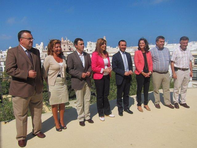 Reunión De Los Delegados Territoriales De La Junta En Cádiz Con Susana Díaz